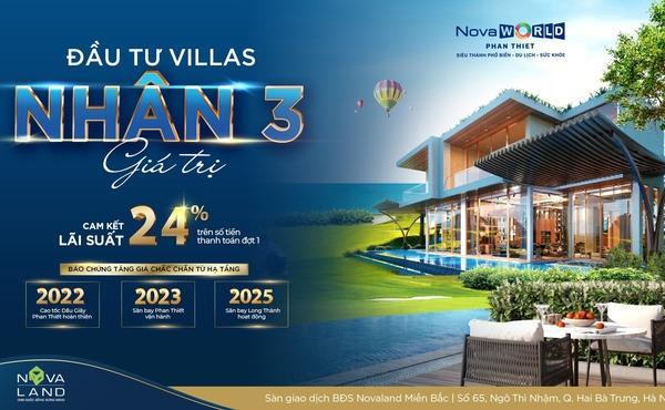 NovaWorld Phan Thiet cam kết lãi suất đầu tư 24% trong hai năm